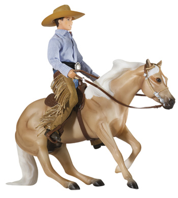 Breyer – Reining Horse and Rider Gift Set
