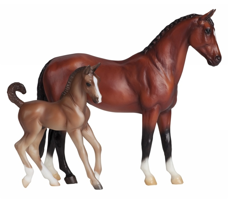 Breyer - Classic Blood Bay Warmblood and Foal